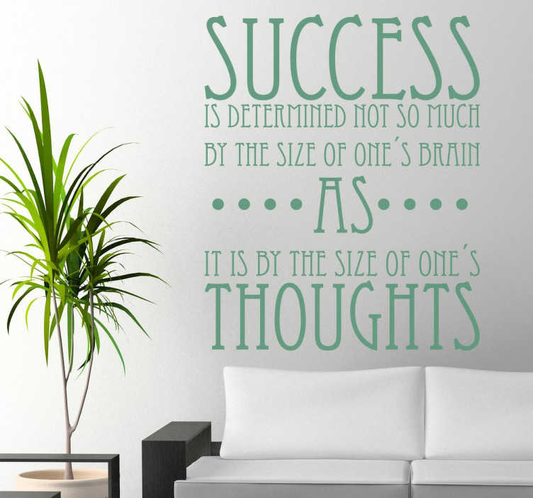 Sticker success motivation