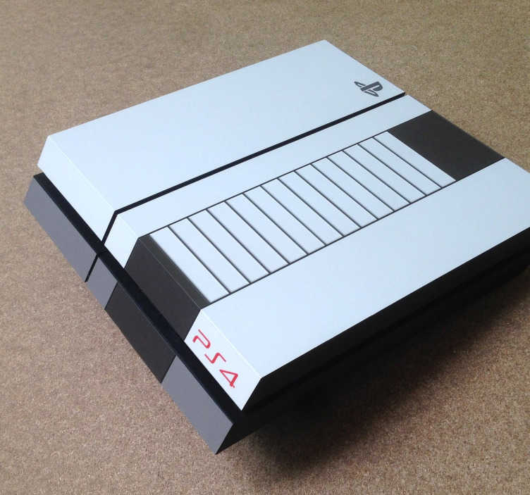 TenStickers. Sticker PlayStation Super Nintendo. Transformez le design de votre PlayStation en Nintendo avec cet original sticker vintage. Un autocollant unique pour une PS4 personnalisée.