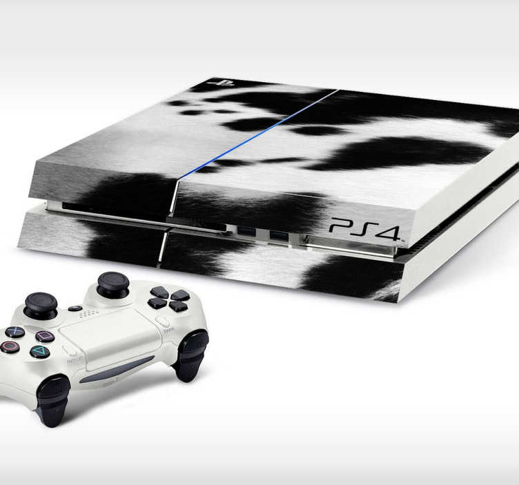 TenStickers. Cow Print PlayStation 4 Skin. PS4 Skins- Customise your PlayStation 4 and make it original and distinctive with this cow print themed design.