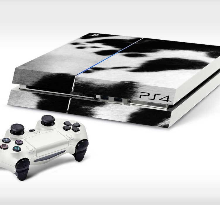 TenStickers. Kuhfell Playstation Aufkleber. Mit diesem Kuhfell Aufkleber können Sie Ihrer PS4 eine persönliche Note verleihen.