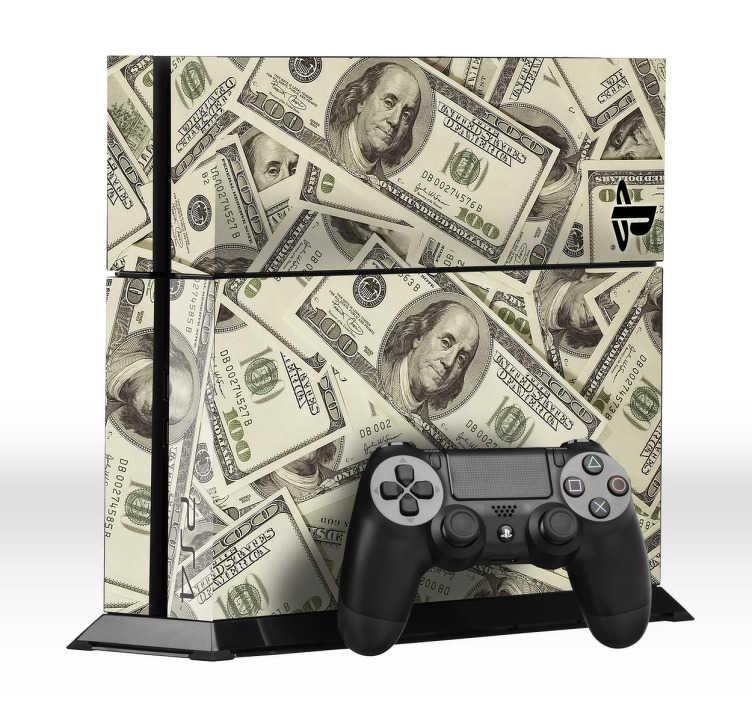 Vinilo para PS4 billetes de dólar