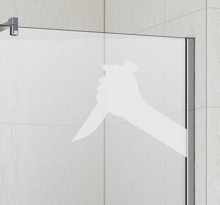 TenStickers. Horror Silhouette Aufkleber. Eine tolle Möglichkeit, um Ihrem Zuhause zu Schwung und Leben zu verhelfen, ist dieser einzigartige Silhouetten Sticker. Riesige Auswahl