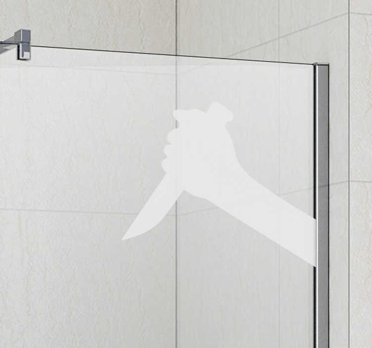 Naklejka na prysznic Hitchcock