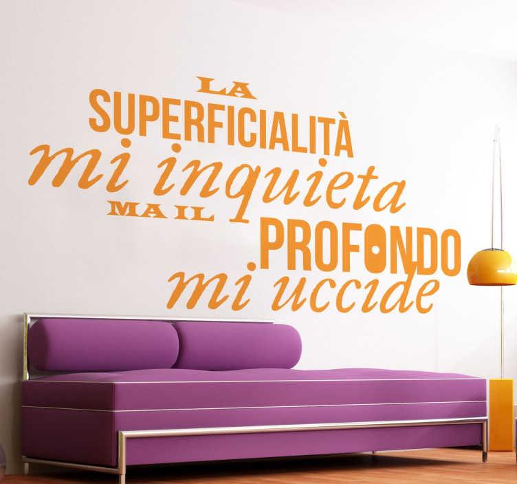TenStickers. Stencil muro Alda Merini. Adesivo murale con uno dei pensieri della poetessa italiana. Un'idea sticker insolita per decorare la casa, dedicata agli amanti della lettura.