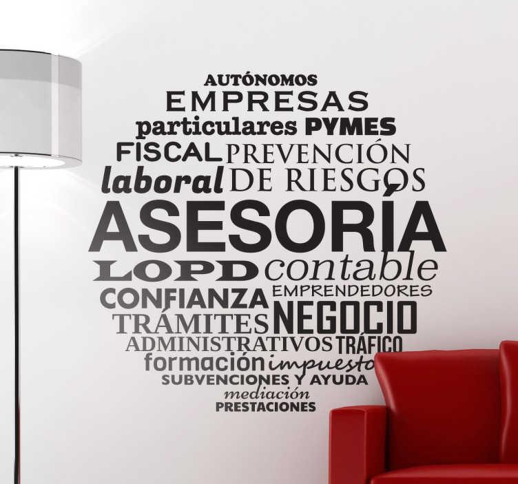 Vinilo decorativo conceptos asesor a tenvinilo for Vinilos decorativos para oficinas