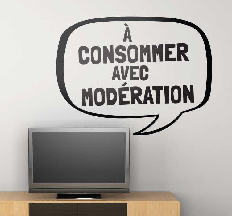 TenStickers. Sticker TV modération. Un espace vide dans votre salon ? Alliez humour et décoration avec cet original sticker en forme de bulle de bande-dessinée.