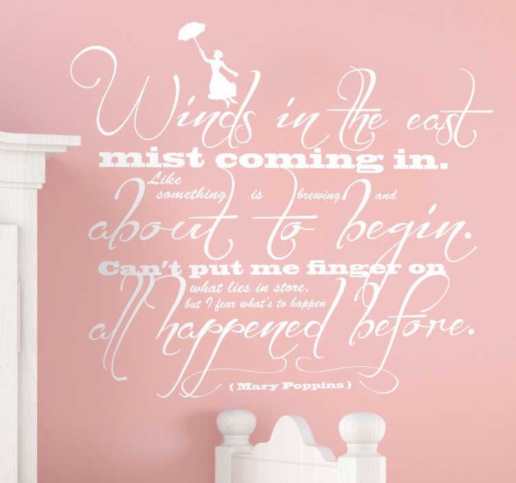 Mary Poppins Quote Wall Sticker Tenstickers