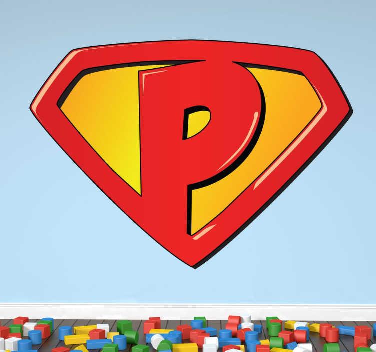 Sticker bambini Super P