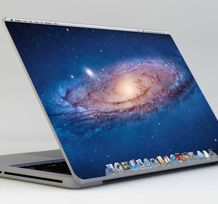 TenVinilo. Vinilo simulación desktop Mac. Con esta pegatina pensada para portátiles de Apple podrás hacer que la parte trasera de tu MacBook sea como el escritorio de la pantalla.
