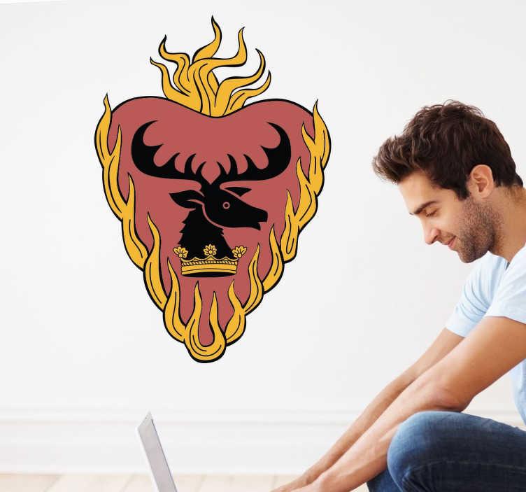 TenVinilo. Sticker decorativo Casa Stannis Baratheon. Vinilo decorativo para los más entuasiastas de Juego de Tronos. Hazte con el sticker de Stannis Baratheon y personaliza tu hogar o tus accesorios.