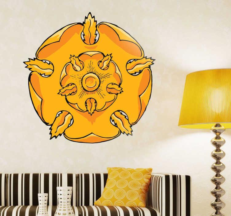 TenVinilo. Vinilo decorativo Casa Tyrell. Hazte con el Sticker decorativo de la Casa Tyrell para personalizar todas tus estancias y muestra lo entusiasta que eres de la serie Juego de Tronos
