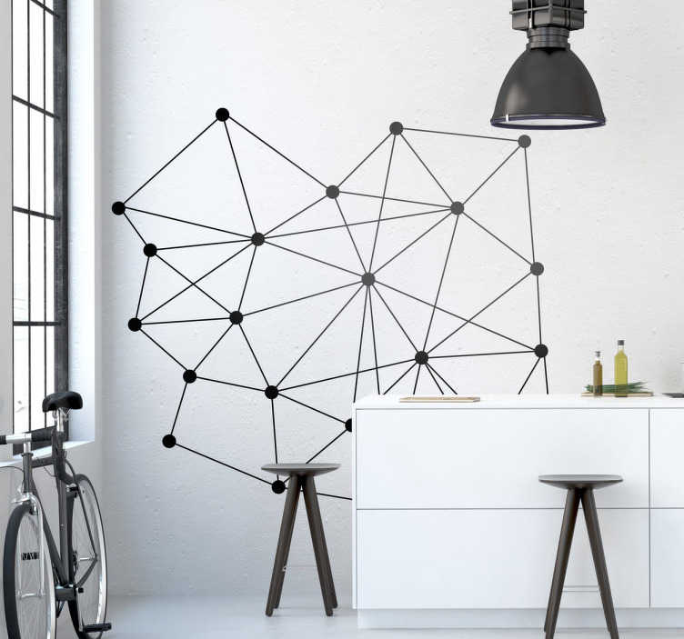 TenStickers. Molecules Wall Decal. A creative sticker of molecules. Decorate your home with this stylish decal from our modern wall stickers collection.