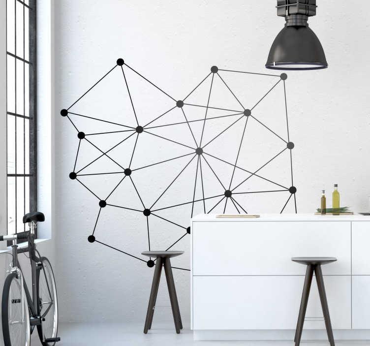 TenStickers. Sticker decoratie punten. Een originele muursticker voor de decoratie van uw slaapkamer. Prachtige wanddecoratie dat je doet denken aan chemie en fysica.