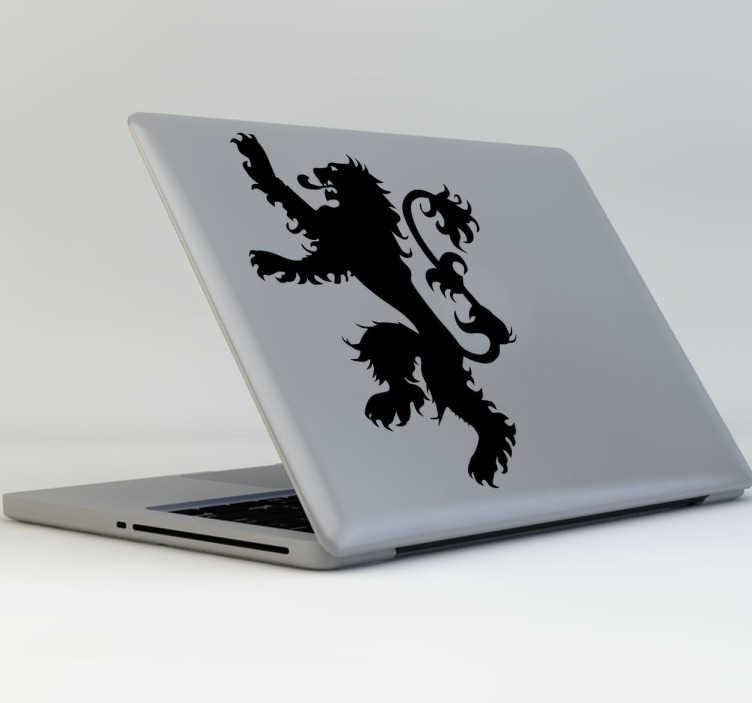 TenVinilo. Pegatina para portátil emblema Lannister. Decora tu ordenador portátil con la pegatina de la Casa Lannister de la serie del momento, Juego de Tronos. Muestra a todos cual es tu casa favorita y tu serie también.