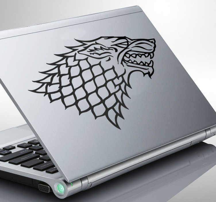 TenVinilo. Sticker para portátil Casa Stark. Personaliza tu laptop con este magnífico vinilo de la Casa Stark, una de las más conocidas y rebeldes de juego de tronos. Decora tus accesorios y dales un toque original.