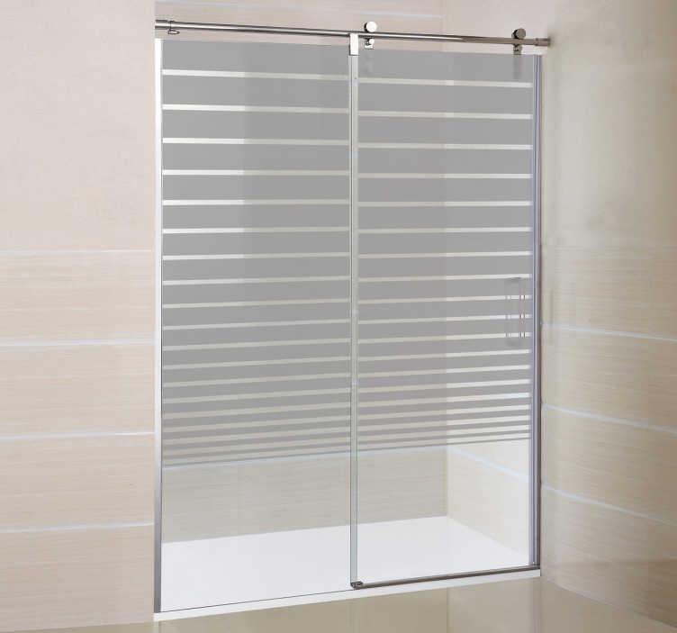 TenStickers. Linien Dusche Sticker. Dekoration für Ihre Dusche. Kreativer Sticker zur gestaltung Ihres Badezimmers und zum Sichtschutz vor neugierigen Blicken.