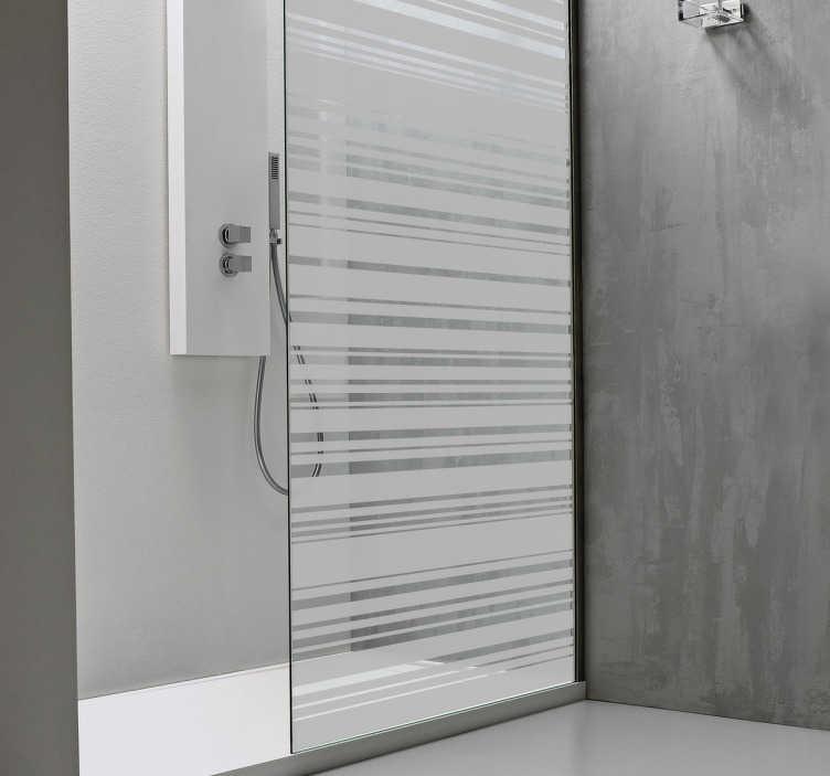 TenStickers. čárový kód leptaný skleněný obtisk. Ozdobte své okno nebo sprchové dveře tímto originálním obtiskem z naší sbírky samolepic linek, které vám vytvoří soukromý prostor a zároveň vám umožní pěkné množství světla.