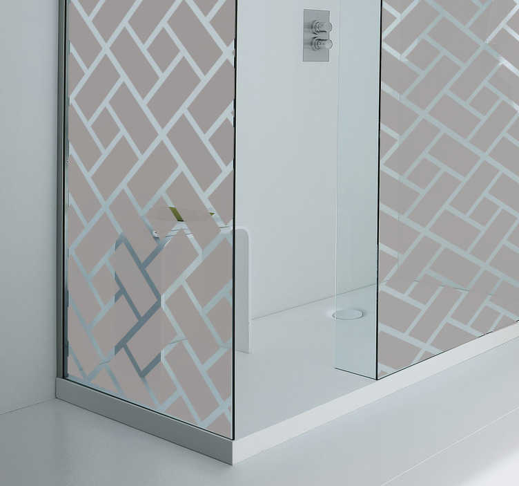 TenStickers. Translucent Tile Shower Sticker. Maintain some privacy in your shower with this simple design sticker which is easy to apply.