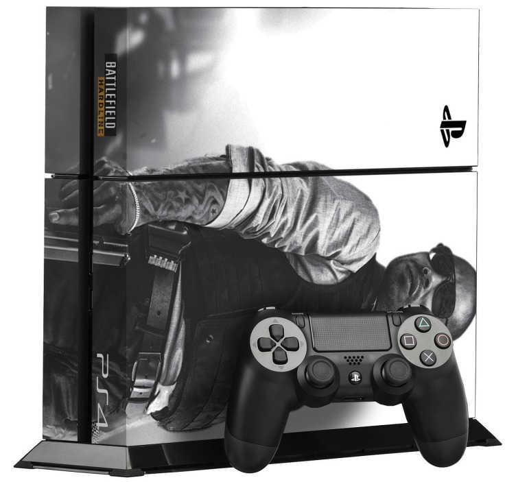 TenVinilo. Vinilo para PS4 Battlefield Hardline. Personaliza tu consola con éste vinilo personalizado para PlayStation 4. Si eres fanático de Battlefield éste sticker barato es idóneo para ti.