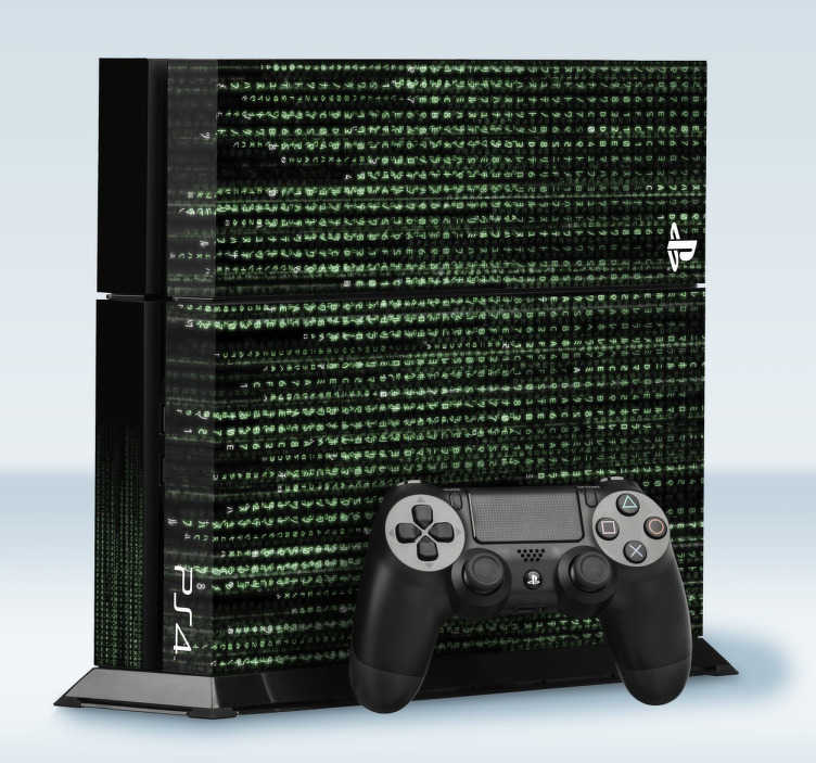 TenStickers. Playstation4 Aufkleber Matrix Code. Personalisieren Sie Ihre Ps4 mit dem qualitativ hochwertigen Vinyl Aufkleber! im Matri Code Design!