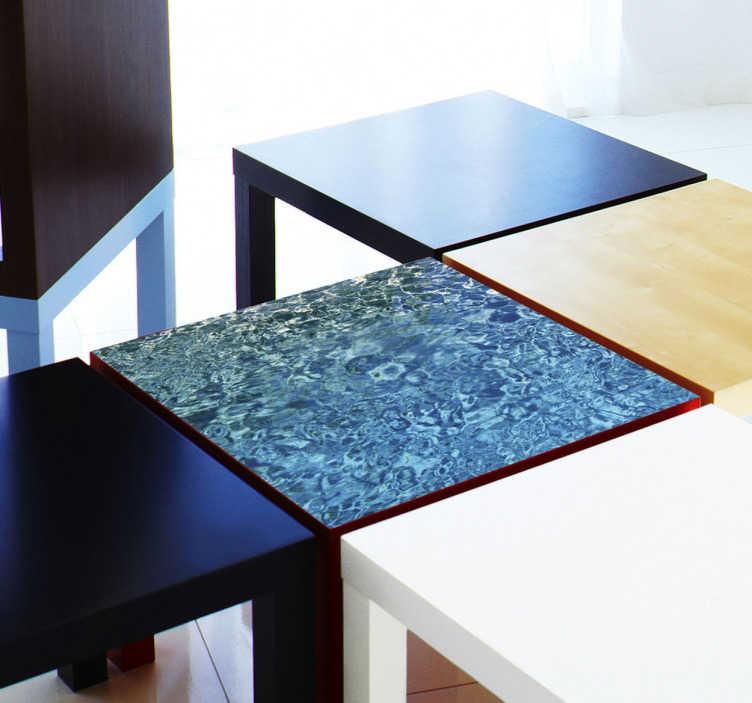TenStickers. Naklejka na meble woda. Naklejki na meble LACK z IKEA z możliwością dostosowania rozmiarów do potrzeb klienta. Naklejki na stół i meble.