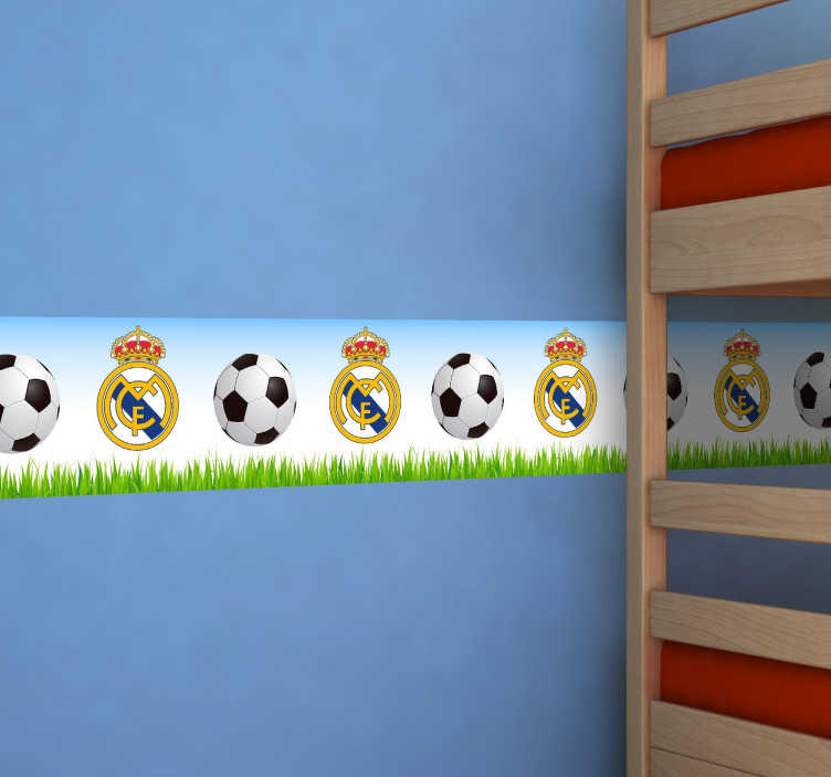 Vinilo decorativo cenefa real madrid tenvinilo - Cenefas infantiles pared ...