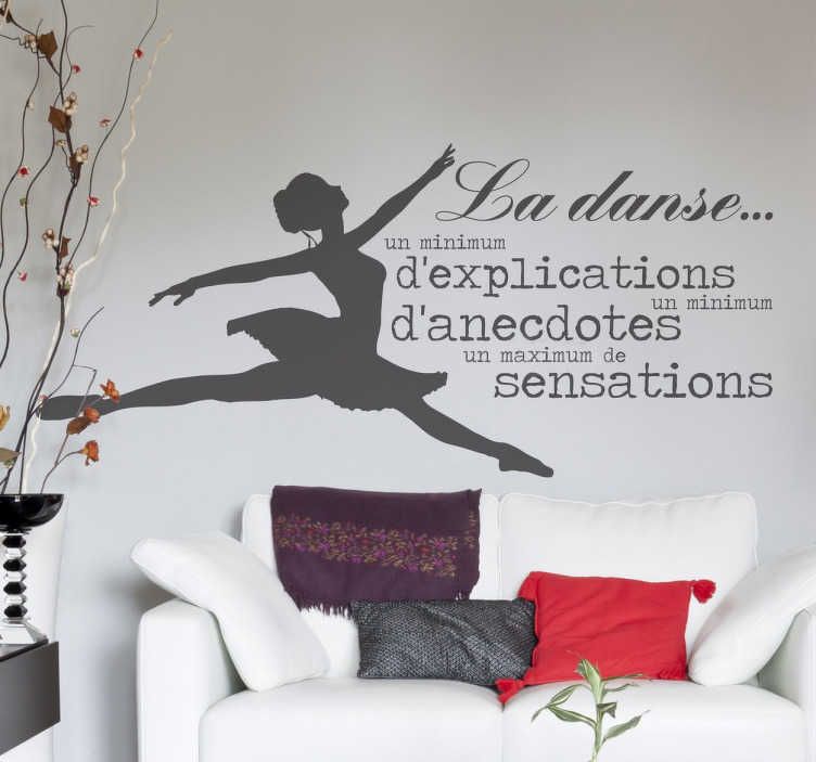 TenStickers. Sticker danse Maurice Béjart. Votre vie tourne autour de la danse et des sensations que vous procure la scène ?
