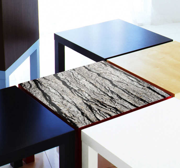 TenStickers. Sticker LACK texture ecorce. Sticker exclusif pour personnaliser votre table LACK Ikea, avec cette superbe texture d'écorce d'arbre très réaliste.