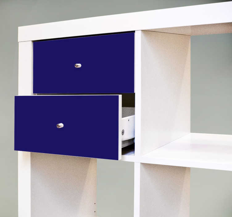 sticker tiroirs kallax couleur tenstickers. Black Bedroom Furniture Sets. Home Design Ideas