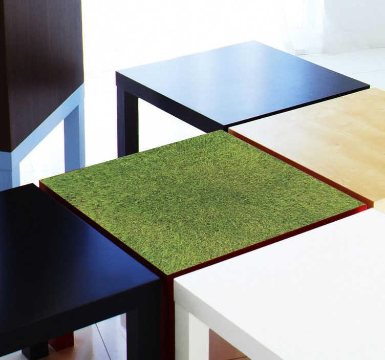 TenStickers. Sticker gras Lack. Decoratie sticker om jouw lege en saaie Ikea Lack tafel mee te decoreren! Stcikers speciaal gemaakt voor Ikea meubels!