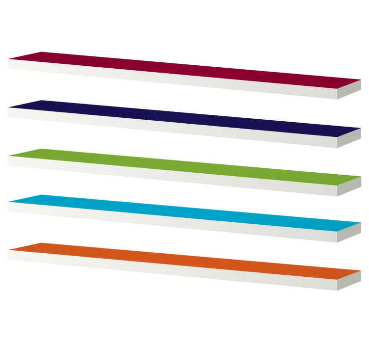 Autocolante decorativo estantes coloridas