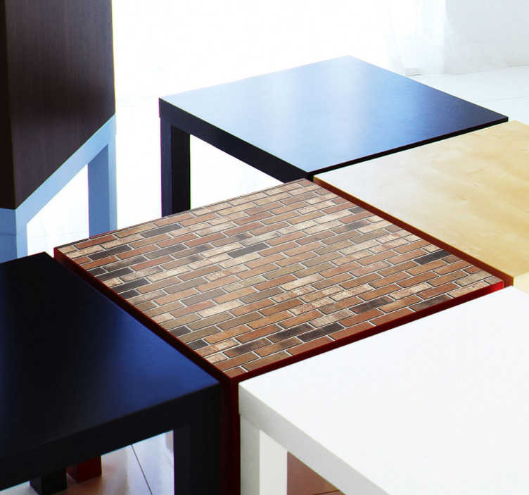 TenStickers. Sticker bakstenen Lack. Maak van jouw standaard Ikea Lack tafel een origineel en persoonlijk stuk dankzij deze bakstenen vinyl sticker!