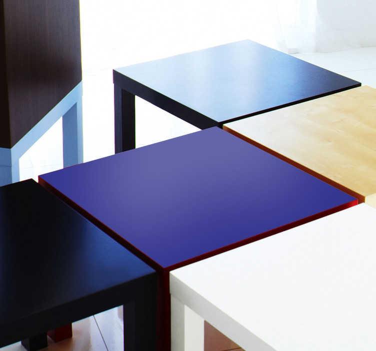 TenStickers. Naklejka kolor na IKEA. Naklejka dekoracyjna, która nada koloru meblom IKEA z serii LACK. Odmień swoje stoły, szafki za sprawą naklejek, które są łatwe w aplikacji i utrzymują swoją trwałość.