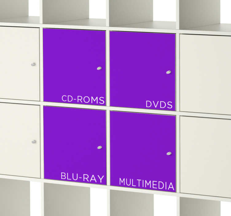 TenStickers. Sticker placard Kallax texte personnalisé. Personnalisez vos placards Kallax Ikea avec ces stickers uniques. Faites de votre mobilier un espace unique et bien à vous.