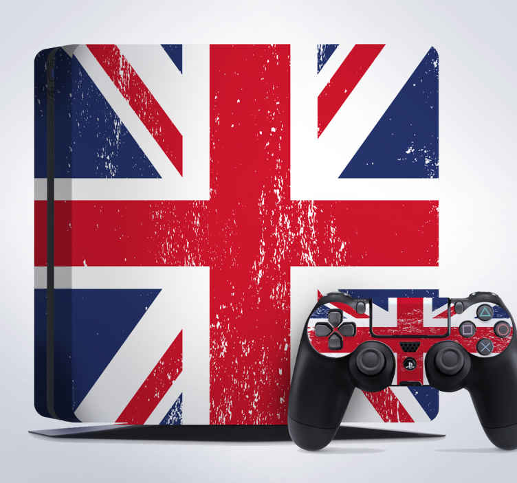 TenStickers. United Kingdom PlayStation 4 Skin. PS4 Skins-Great Britain;- Customise your PlayStation 4 console with this high quality decal vinyl. British flag design.