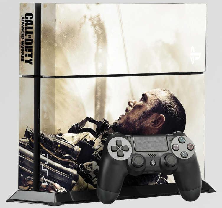 TenVinilo. Vinilo PlayStation 4 CoD-Advance Warfare. Vinilo para PS4 de una de las últimas entregas del Call Of Duty. Advance Warfare ha llevado la guerra más allá con un aire futurista. Decora tu PS4 con estas pegatinas y dotala de carácter. Adhesivos de fácil aplicación.