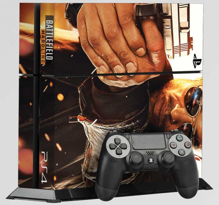 TenVinilo. Vinilo PS4 Battlefield Hardline. BF: Hardline es una de las últimas entregas de la saga Batllefield. Hazte con este vinilo para PS4 y disfruta del juego mientras decoras tu consola. Vinilo decorativo de facil aplicación para los más entusiastas de la saga.