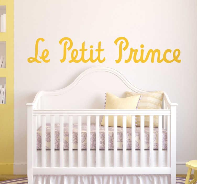 TenStickers. Sticker le petit prince. Sticker mural pour chambre d'enfants, avec le titre de la célèbre histoire du petit prince d'Antoine de Saint-Exupéry.