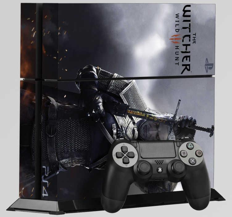 TenStickers. Sticker PS4 The Witcher 3. Le sticker de l'un des meilleurs jeux sur PS4 pour personnaliser votre console et en faire un accessoire unique qui n'appartient qu'à vous.