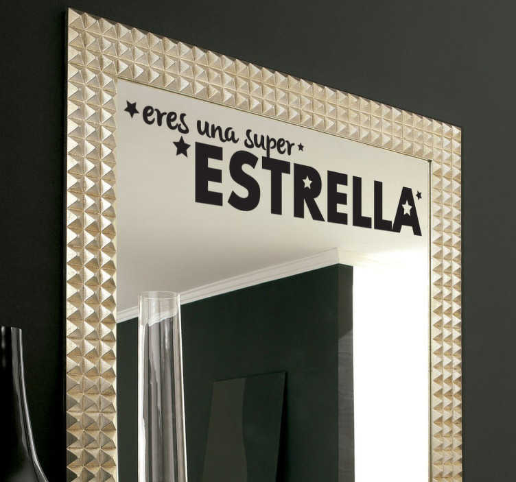 Vinilo espejo super estrella tenvinilo - Vinilo de espejo ...