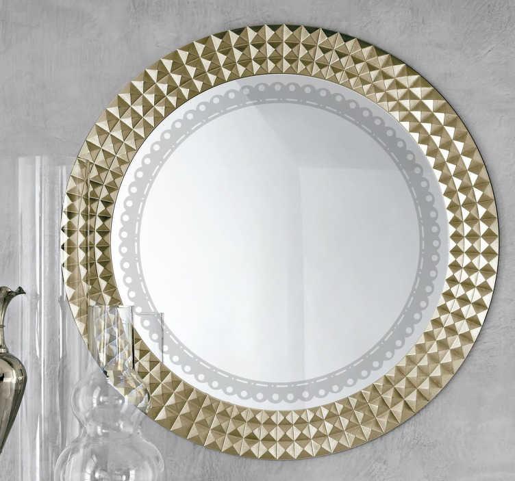 TenStickers. Naklejka na lustro okragły ornament. Naklejka dekoracyjna na lustro przedstawiająca elegancki, owalny motyw. Wzór dostępny w 50 kolorach i różnych rozmiarach.