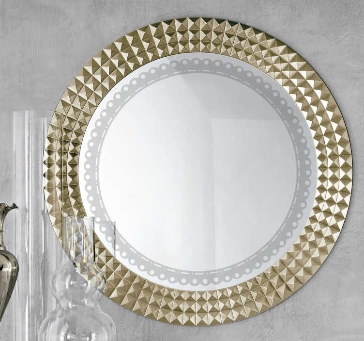 Vinilo decorativo para espejos redondos tenvinilo for Espejos decorativos vintage