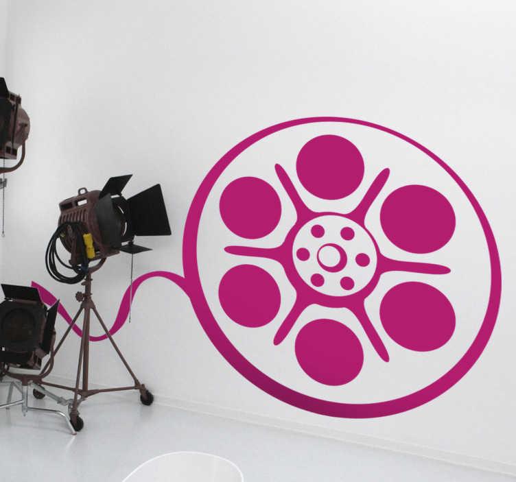 TenStickers. Autocolantes de cinema, televisão e videojogos Fita de cinema. Autocolante decorativo para parede com imagem de fita de cinema ideal para decorar qualquer parede da sua casa. Não deixam residuos após remoção.