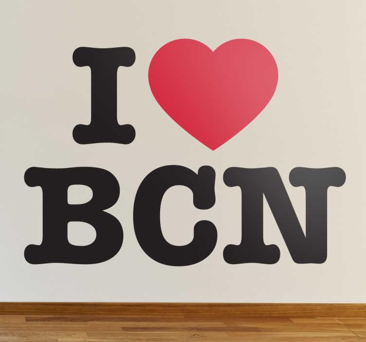 Vinil Decorativo I Love Barcelona