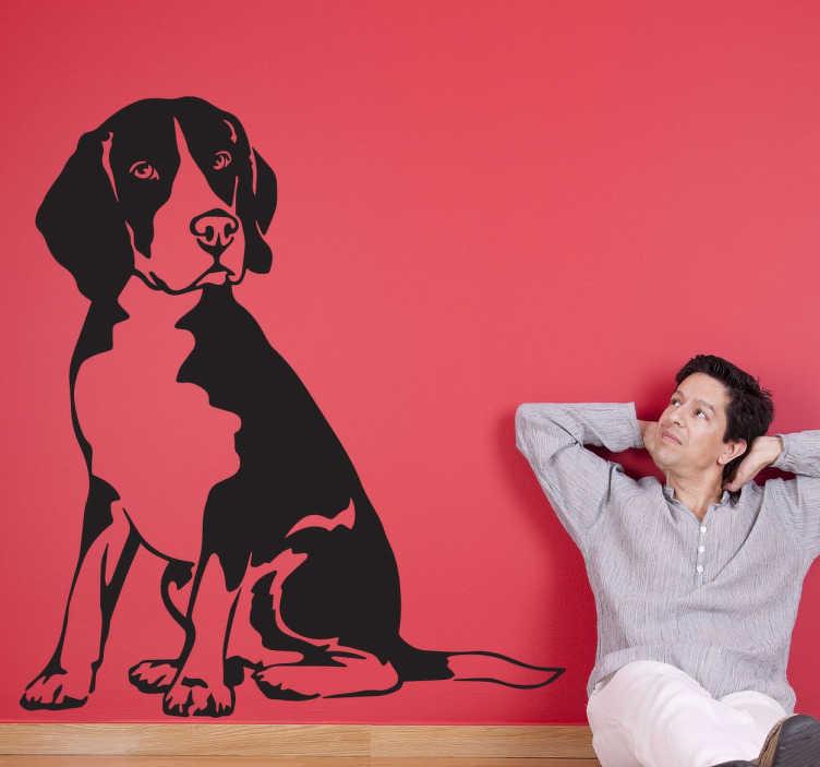 TenStickers. Naklejka Beagle. Jesteś właścicielem tego cudownego psa, a może pałasz miłością do wszystkich czworonożnych stworzeń?