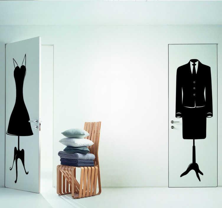 TenStickers. Sticker buste homme. Pour marquer la différence lui-elle de votre dressing ou simplement pour décorer vos murs, adoptez ce sticker chic et élégant.