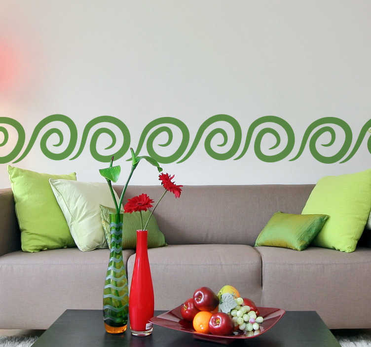TenStickers. Spiral Pattern Sticker. Decorative sticker of a spiral pattern that would make you love your wall! Fantastic decal to fill those empty walls at home with some colour.