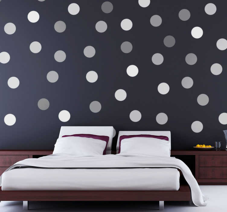 TenStickers. Decorative Grey Circles Sticker. Decorative Grey Circles Sticker to decorate the walls of your home, and provide them with an original and distinctive touch.