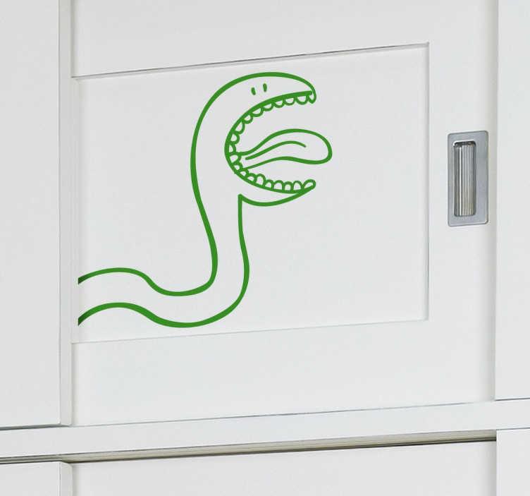 Vinil Decorativo Serpente Divertida