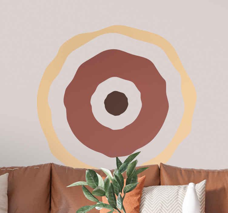 TenStickers. Afrikanische Kreise Aufkleber. Zwei braune und ein beige farbener Kreis als Wandtattoo. Verleihen Sie Ihrer tristen Wand einen neuen Look!